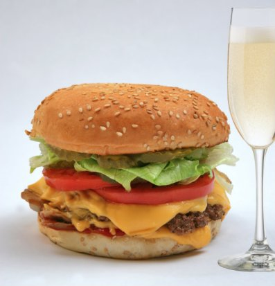 Cheeseburgers and Champagne