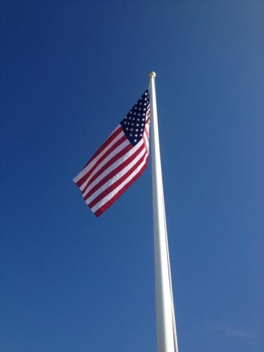 Blonde Bikers Hoist a New Flag