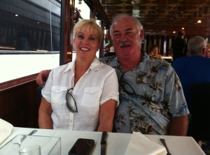 Bill and me on The Lady Atlantic