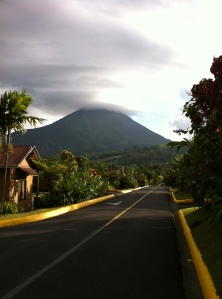View of the Volcano from our Room