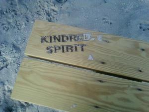 Wood Burned Kindred Spirit Mailbox