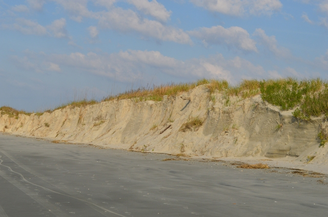 Erosion from Tropical Storm Ana