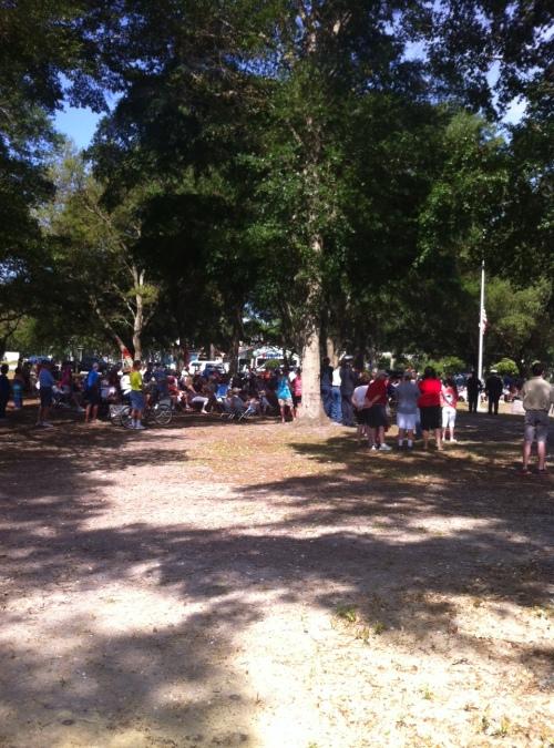 Sunset Beach Park Groundbreaking Memorial Day Veterans